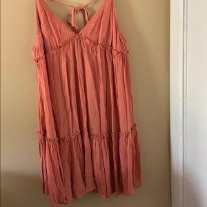 Peach Mini Summer Dress